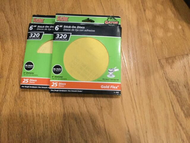 "25 PACK GATOR GOLD FLEX 6/"" STICK ON DISCS"