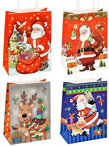 100 mittel Weihnachtstüten Geschenktüten Weihnachten Geschenktaschen Papiertüten