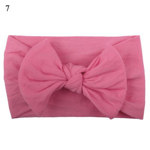 Nouveau-né Bébé Fille Head Wrap Lapin Big Bow Knot Turban bandeau pour bébé
