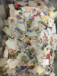 1-kilo-Germany-off-paper-incl-large-and-small-Bundespost-Berlin-amp-DDR-stamps