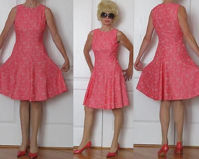 American Living Sleeveless Peach Pink Lace A Line Dress 6 S