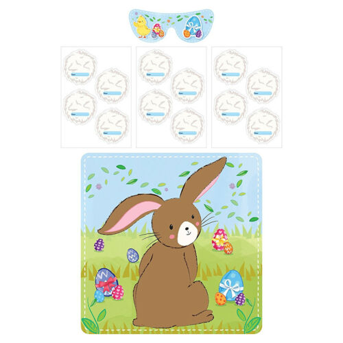 Easter Time - Pin the Tail on the Bunny Rabbit Easter Activity Game for Kids