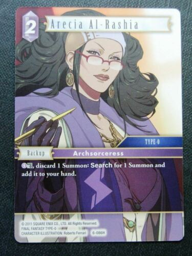 Arecia Al-Rashia 6-086H Final Fantasy Cards # 6H69