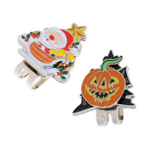 New-Halloween-Pumpkin-amp-Santa-Claus-Golf-Ball-Marker-with-Magnetic-Hat-Clip