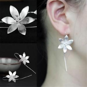 925-Silver-Plated-Long-Drop-Dangle-Tassel-Hook-Earrings-Ear-Women-Jewelry-HOT