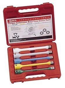5PC-1-2-034-Dr-Torque-Extension-Bars-Torque-Sticks-Genius-Tools-TO-405EXT