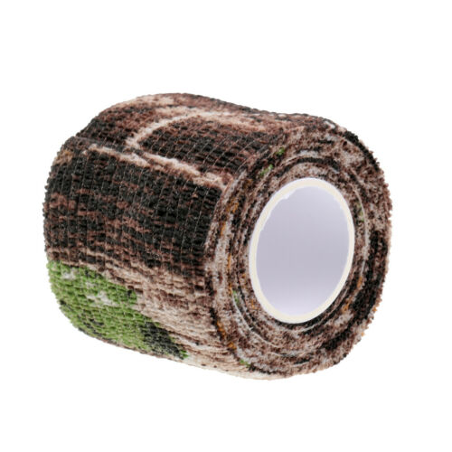 Camouflage Camo Tape 5cm 2.2m Rifle Wrap Hunting Shooting Stealth Tape