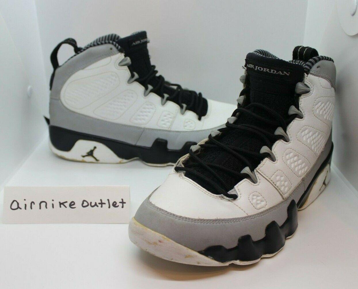 2014 Nike AIR RETRO JORDAN 9 IX BARON BLACK WHITE WHITE WHITE WOLF GREY 302370 106 SIZE 9 33fe88