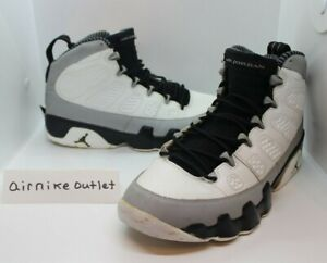 8b19d174e6f 2014 Nike AIR RETRO JORDAN 9 IX BARON BLACK WHITE WOLF GREY 302370 ...