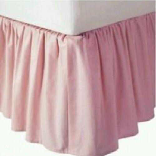 Solid 640 TC Cotton SPLIT Corner Ruffle Bed Skirt Twin XL 39 inch x 80 inch