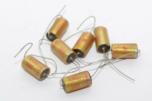 f NOS 4 pcs Wima Durolit Vintage Paper Capacitors 0.033 MFD 1000 V Tube Amp