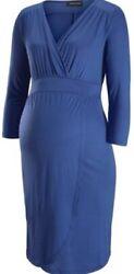 MAMA LICIOUS Umstandskleid Stillkleid Schwangerschaft NEU Kleid Stillen blau