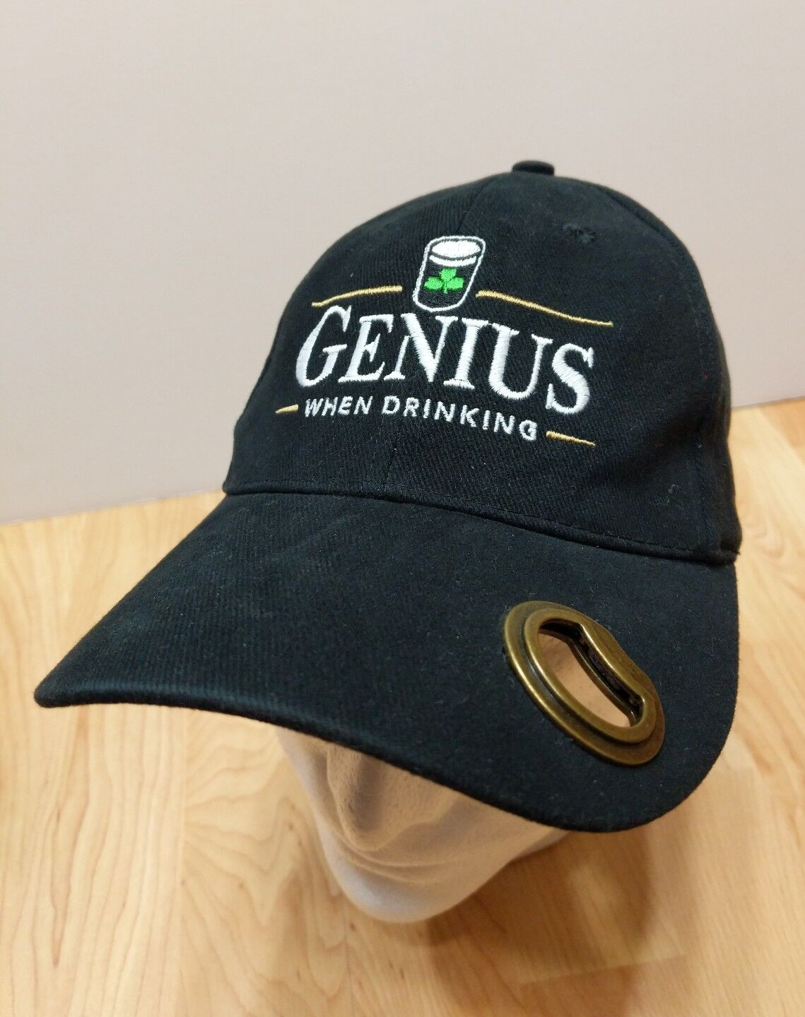 Guinness Extra Irish Stout HAT W/ Bottle Opener Beer Alcohol Irish Extra four leaf Clover 1f5ede
