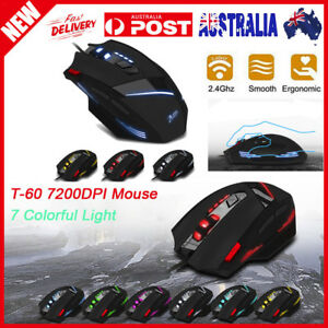 57b45990709 ZELOTES T-60 7200DPI Professional USB Wired Optical 7 Buttons Gaming ...