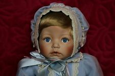 ASHTON-DRAKE GALLERIES( BABY BLUE EYES) PORCELAIN DOLL WITH CERTIFICATE