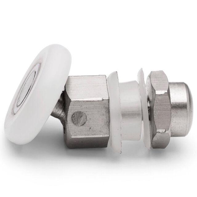 Swivel single shower door rollers 25mm diameter l014