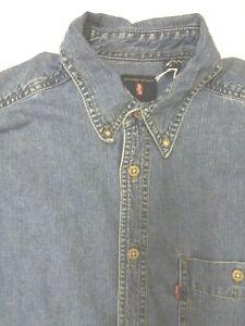 Levi-039-s-Denim-Shirt-Herren-Regular-Fit-Button-Down-medium-mittelblau-LSHT-699