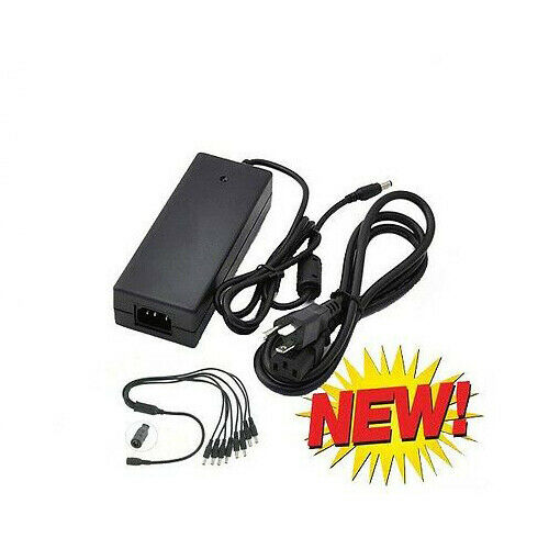 Amview DC Power Adapter 12v 7Amp Power Splitter f Surveillance Security Camera