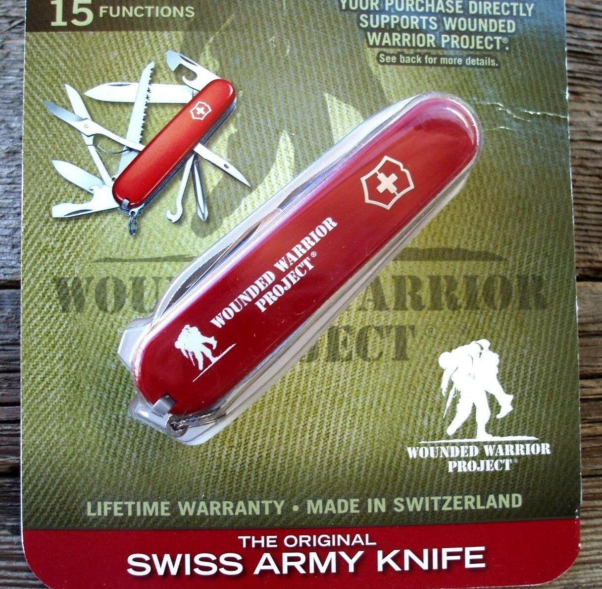 Victorinox FIELDMASTER Wounded Warrier Project Original Swiss Army Knife NEW