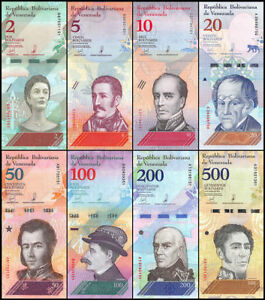 SET-Venezuela-2-5-10-20-50-100-200-500-Bolivares-Soberanos-8-pcs-2018-P-New-UNC