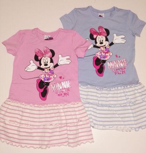 Rose NEUF Disney Minnie Souris Robe rüschenrock Taille 104 116 128 bleu clair O