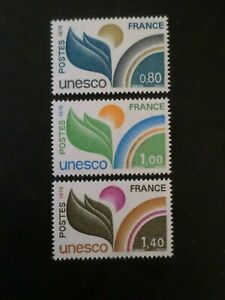 France, 1976, Timbres Service 50 51 52, Unesco, Neufs**, Mnh Stamps