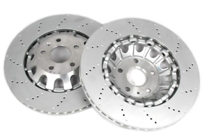 2X-Genuine-Audi-TTRS-370X32mm-Front-Punched-Brake-Disc-8J0615301K