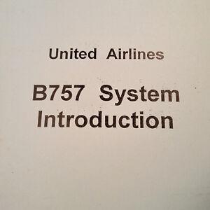 boeing 757 system introduction training manual ebay rh ebay com Training Manual Clip Art Housekeeping Training Manual