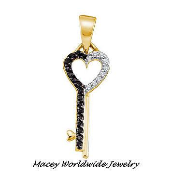Mediterranean Blue Diamonds Silver Heart Necklace Pendant 1//10 Ctw.