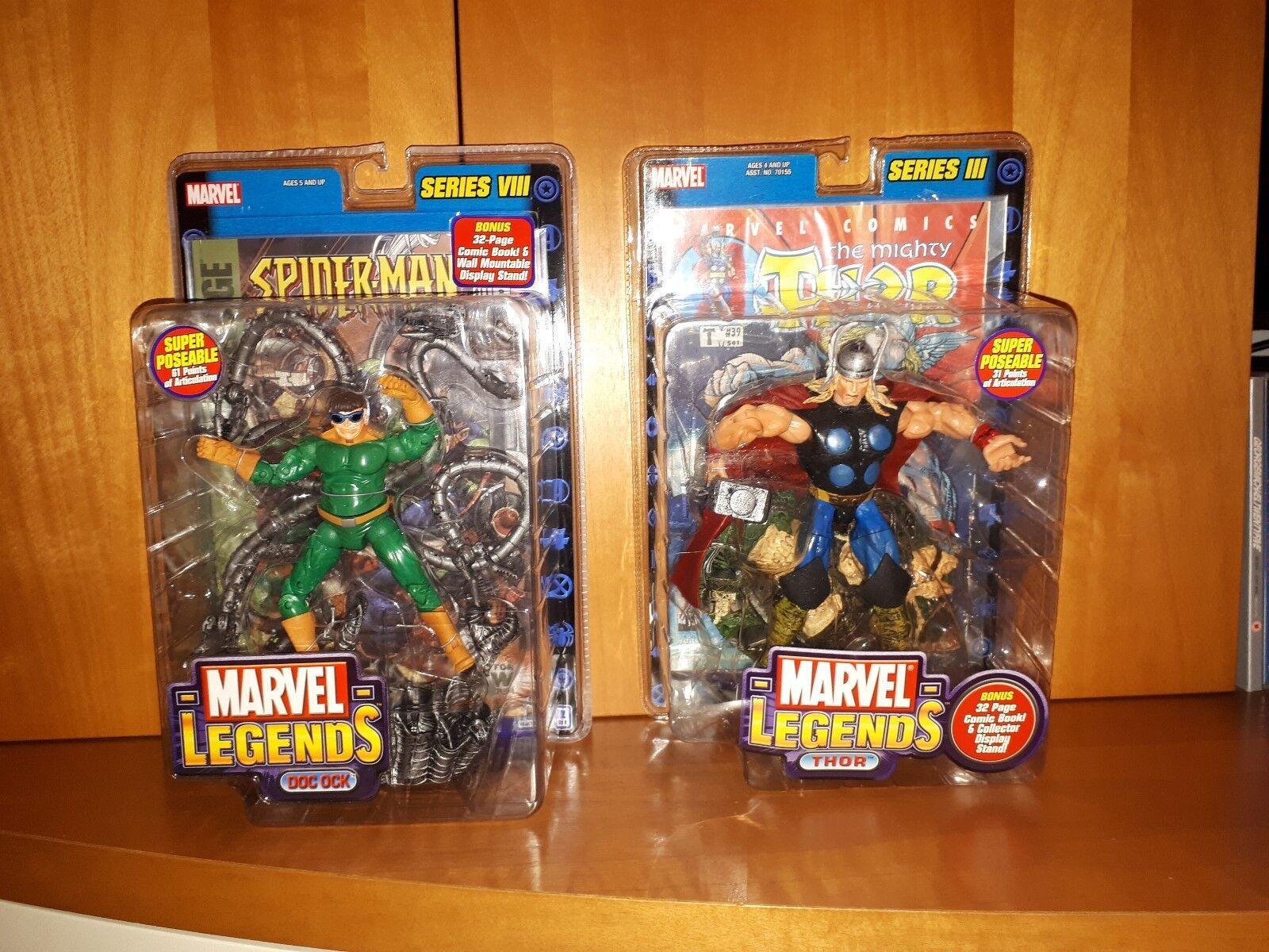 LOT OF 2 Marvel Legends THOR Series 3 III Doctor Octopus Doc Ock Series 8 VIII