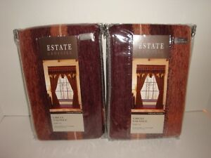 Croscill-Estate-S-2-Highlands-Circle-Valances-42-034-x-21-034-NIP