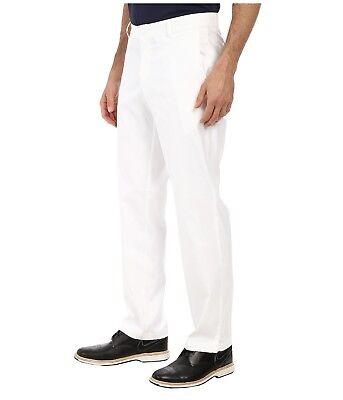 Nike Men's Flat Front Pants Dri-FIT Golf Tech Slack 639779 100 White 36,38,40x30