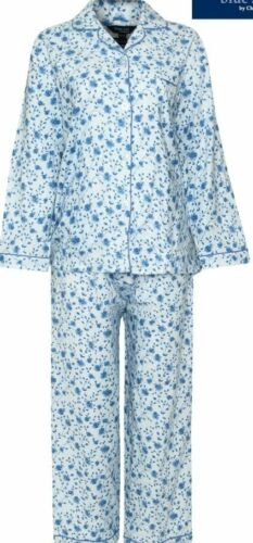 Ladies  Brushed Cotton Warm Wyncette  Pyjamas Nightwear Sleepwear 12-26