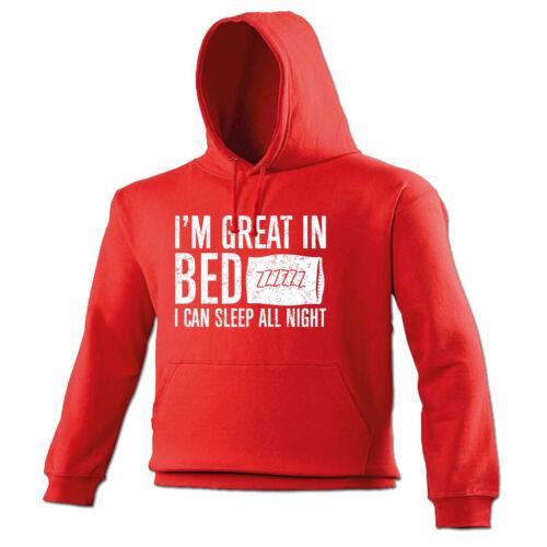 Im Grand au lit je peux dormir toute la nuit à capuche Sweat à Capuche Cadeau D/'anniversaire Grossier Drôle