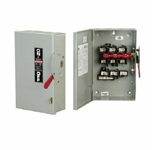 Ge Tg4324r 200 Amp 240v 3 Phase Fusible Outdoor Disconnect Safety Switch For Sale Online Ebay