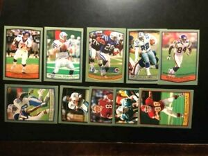 1999 TOPPS 10 FOOTBALL CARDS W/ PEYTON MANNING, Barry Sanders-NM-MT+🔥-FREE SHIP