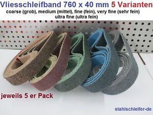 Neu!!! Vlies Schleifband Rohrbandschleifer Satiniermaschine, 760x40mm, Edelstahl
