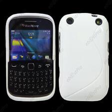 Housse Etui Coque Silicone S-line Gel Blanc BlackBerry Curve 9320 Curve 9315
