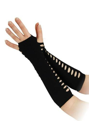 Gloves Halloween Fancy Dress Accessory #US Ladder Style Black 10/""