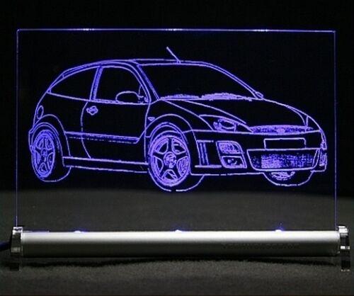 LED Leuchtschild graviert ist Ford Focus RS 2003  AutoGravur