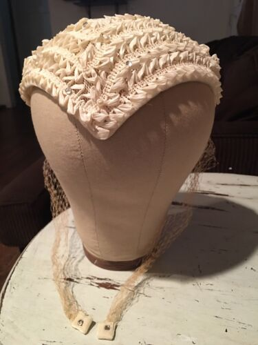 Vintage Bridal Wedding Juliet Cap Crown Headpiece,