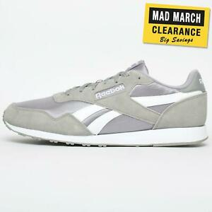 Reebok-Royal-Ultra-Classic-Hommes-causal-Fashion-Baskets-Retro-Gris-UK-12-uniquement