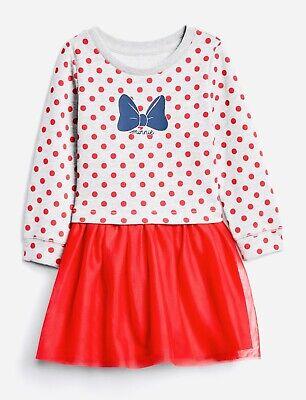 Disney Toddler Girls Red Polka Dot Minnie Mouse Tutu Skirt Size 24 months NWT
