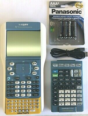 TI-nspire TI-84Plus Silver Edition Graphing Calculator With Keypad And Cable