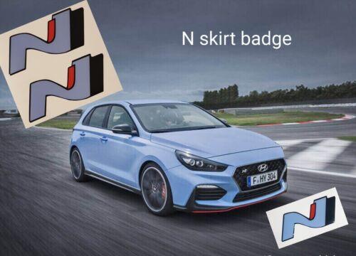 veloster fastback N Side Skirt Badge//Sticker. Hyundai i30n