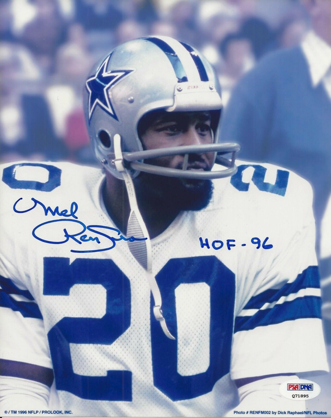 Mel Renfro Dallas Cowboys signed 8x10 PSA/DNA #Q71895