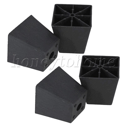 98x98x97mm Plastic Trapezoid Furniture Legs Feet for Couch Bed set of 4