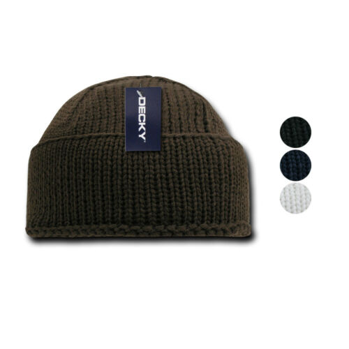 Decky Sailor Navy Fisherman Beanie Beanies Warm Winter Thick Knitted Acrylic