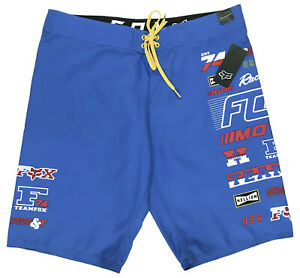 Details Usa Surf Swim New Nwt Team Board Fox Blue Shorts About 74 Trunks Cool Racing 38 Men's K1cTFlJ
