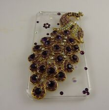 fits iPhone 4  phone case peacock 3 d crystal bling beautiful